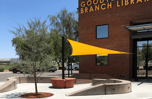 Sail Shade Structure at Library