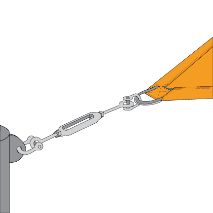 Attaching a Sail with a Turnbuckle
