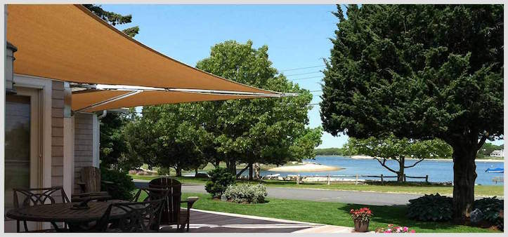 Awning shade sail in Cambridge Massachusetts & Shade Sail - Shade Structure - Pool Swing Photos | Tenshon