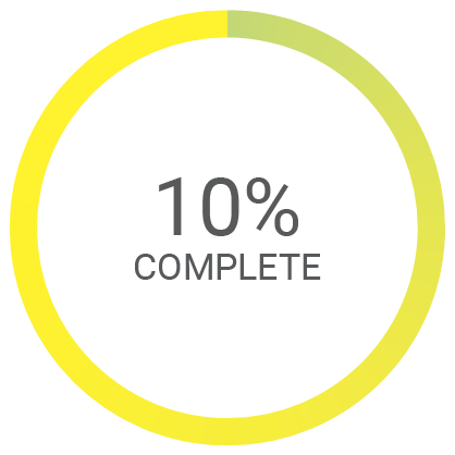 10% complete