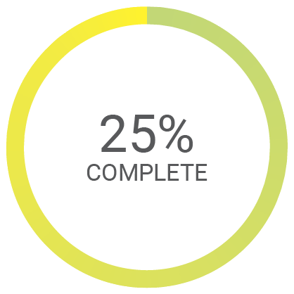 25% complete