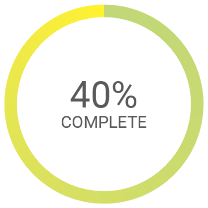 40% complete