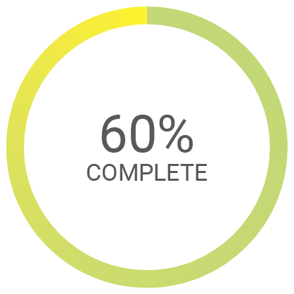 60% complete