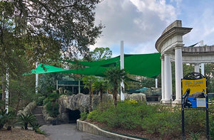 Commercial Shade Sails at the Audubon Zoo