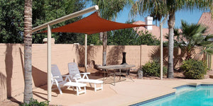 An example of an installed RS-916 shade sail