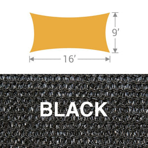RS-916 Rectangle Shade Sail - Black