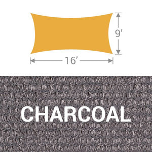 RS-916 Rectangle Shade Sail - Charcoal