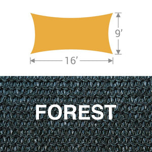 RS-916 Rectangle Shade Sail - Forest