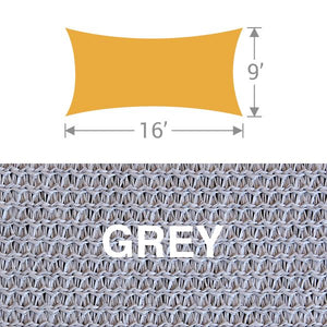 RS-916 Rectangle Shade Sail - Grey