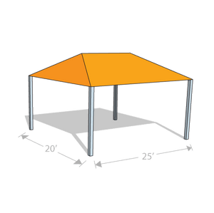 HS-2025 Hip Shade Structure - Tenshon