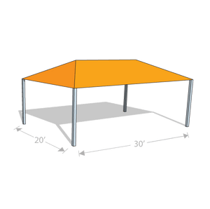 HS-2030 Hip Shade Structure - Tenshon