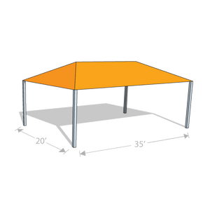 HS-2035 Hip Shade Structure - Tenshon