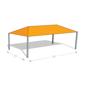 HS-2540 Hip Shade Structure - Tenshon