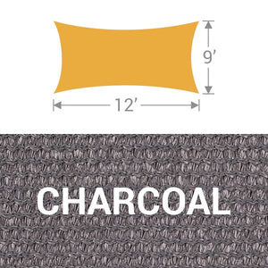RS-912 Rectangle Shade Sail - Charcoal