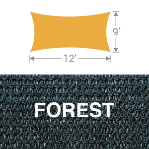 RS-912 Rectangle Shade Sail - Forest