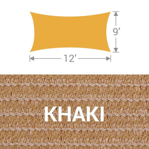 RS-912 Rectangle Shade Sail - Khaki