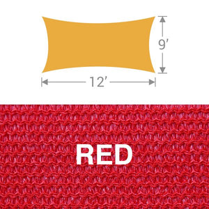 RS-912 Rectangle Shade Sail - Red