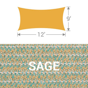 RS-912 Rectangle Shade Sail - Sage