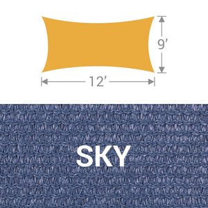 RS-912 Rectangle Shade Sail - Sky