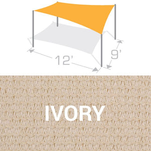 RS-912 Sail Shade Structure Kit - Ivory