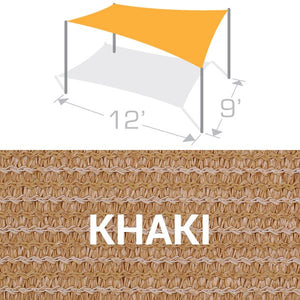 RS-912 Sail Shade Structure Kit - Khaki