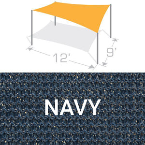 RS-912 Sail Shade Structure Kit - Navy