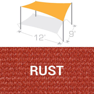 RS-912 Sail Shade Structure Kit - Rust