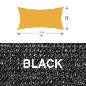RS-912 Rectangle Shade Sail - Black