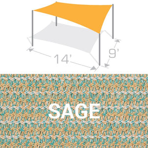 RS-914 Sail Shade Structure Kit - Sage