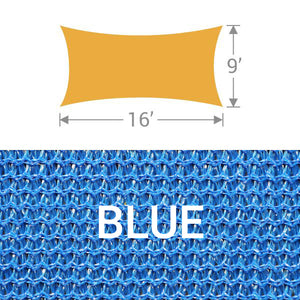 RS-916 Rectangle Shade Sail - Blue