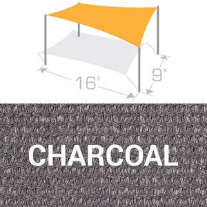 RS-916 Sail Shade Structure Kit - Charcoal