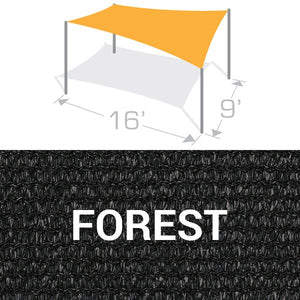 RS-916 Sail Shade Structure Kit - Forest