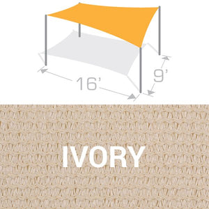 RS-916 Sail Shade Structure Kit - Ivory