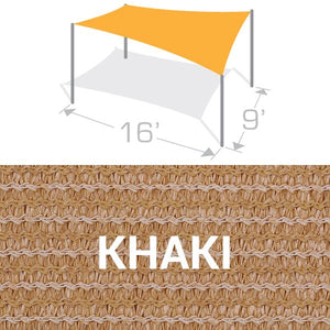RS-916 Sail Shade Structure Kit - Khaki