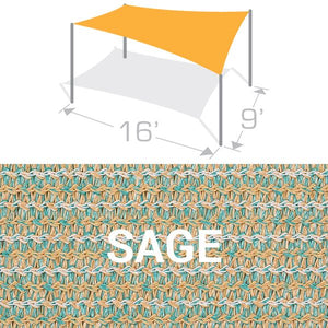 RS-916 Sail Shade Structure Kit - Sage