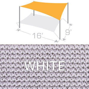 RS-916 Sail Shade Structure Kit - White