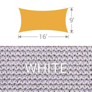 RS-916 Rectangle Shade Sail - White