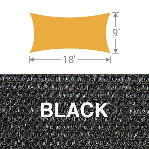 RS-918 Rectangle Shade Sail - Black