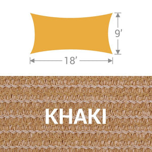 RS-918 Rectangle Shade Sail - Khaki