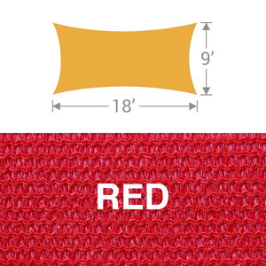 RS-918 Rectangle Shade Sail - Red