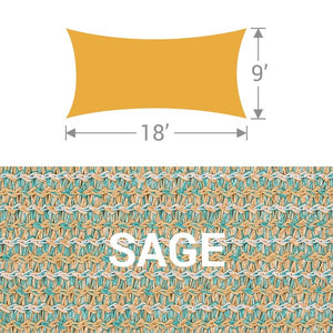 RS-918 Rectangle Shade Sail - Sage