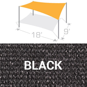 RS-918 Sail Shade Structure Kit - Black