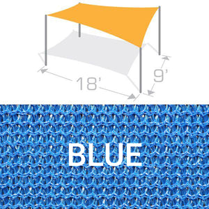 RS-918 Sail Shade Structure Kit - Blue