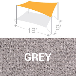 RS-918 Sail Shade Structure Kit - Grey