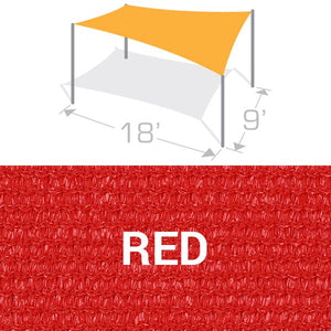 RS-918 Sail Shade Structure Kit - Red