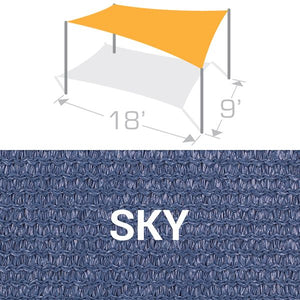 RS-918 Sail Shade Structure Kit - Sky
