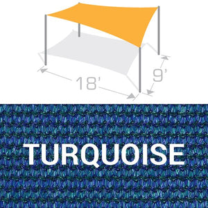 RS-918 Sail Shade Structure Kit - Turquoise