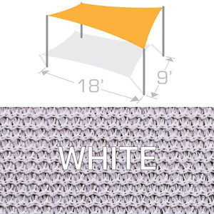 RS-918 Sail Shade Structure Kit - White