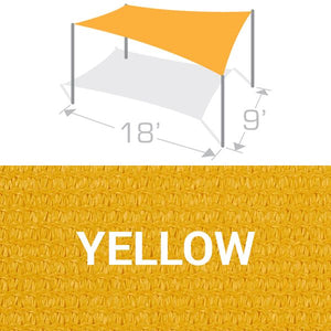 RS-918 Sail Shade Structure Kit - Yellow