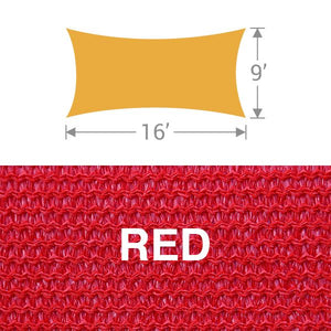 RS-916 Rectangle Shade Sail - Red